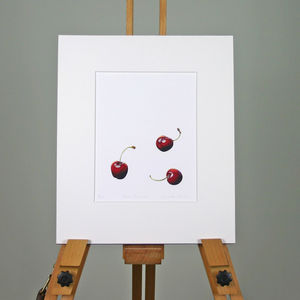 ' Three Cherries ' Limited Edition Print - contemporary art
