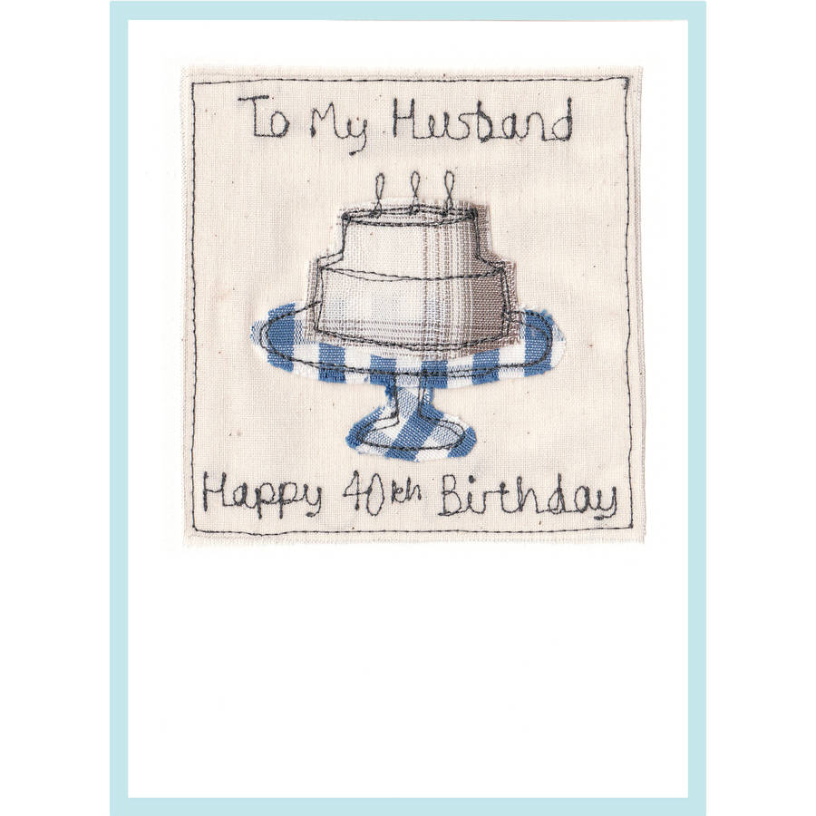 personalised cake birthday card by milly and pip – Husband 40th Birthday Card