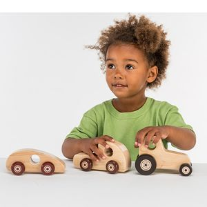 Natural Wood Toy Lorry - children's room accessories