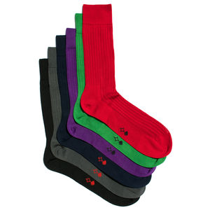 Men's Gift Set Of Six Pairs Of Socks