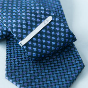 Personalised Sterling Silver Tie Clip
