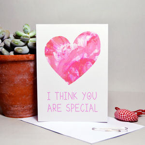 'I Think You Are Special' Heart Card - view all anniversary gifts