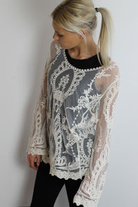 Embroidered Lace Top - hen party gifts & styling