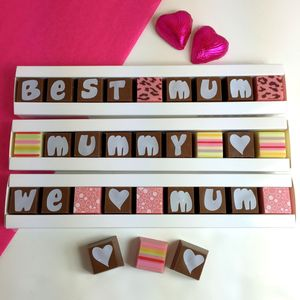 Personalised Chocolates In A Stick Box For Mums