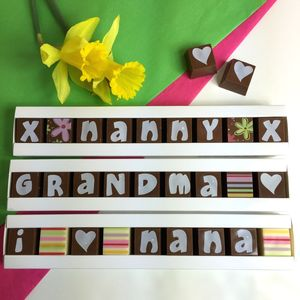 Personalised Chocolates In A Stick Box For Mums - personalised