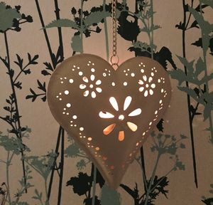 Florence Hanging Heart Tealight Candle Holder