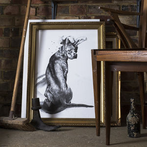 Dog With Rabbit Ears Print