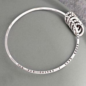 Personalised Things I Love About You Bangle - bracelets & bangles