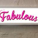 Personalised Typographic Lightbox