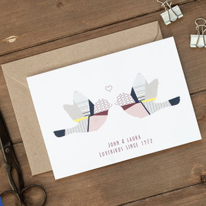 Personalised Lovebirds Card
