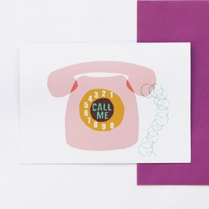 'Call Me' Greetings Card