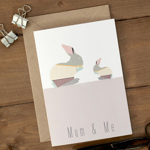 'Mummy And Me' Bunny Mother's Day Card