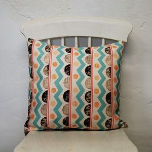 Small Square Farm Aztec Cushion