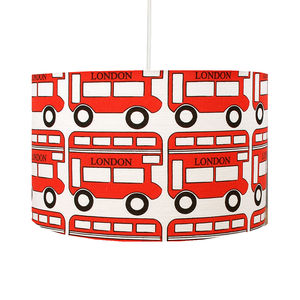 London Red Bus Lampshade - bedroom