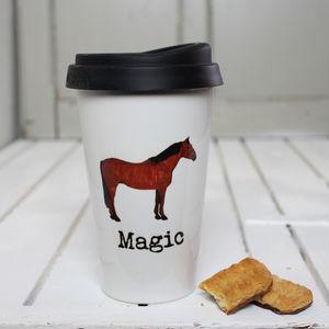 Personalised Horse Travel Mug