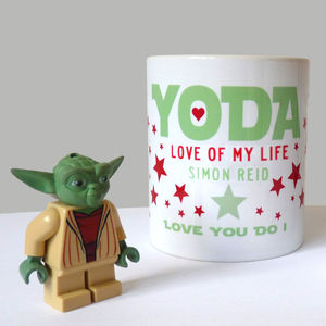Personalised 'Yoda' Star Wars Love Mug - gifts for him