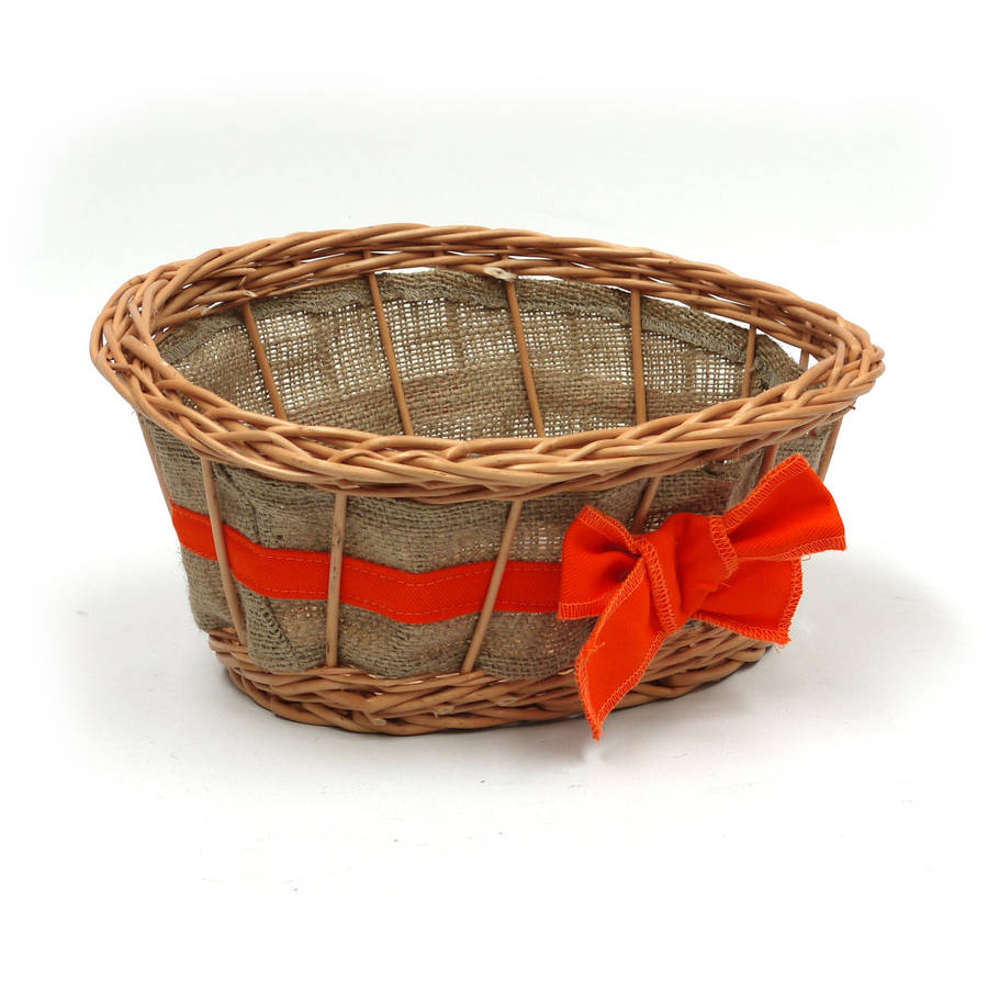 Empty Wicker Gift Baskets : Empty wicker gift basket ribbon by prestige