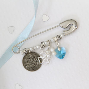 Four Leaf Clover Bridal Charm Pin