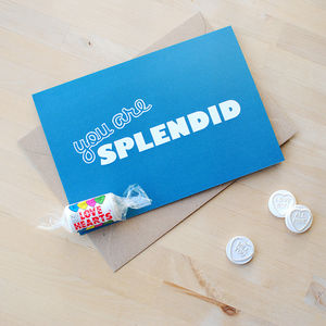 You Are Splendid Father's Day Card - anniversary cards