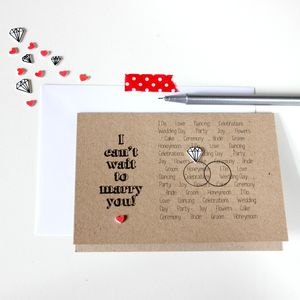 'I Can't Wait To Marry You' Wedding Card