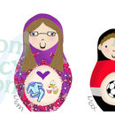 Personalised 'Deluxe Russian Doll' Family Print Example Family (Landscape)