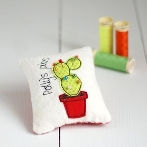Personalised Cactus Pin Cushion - on trend: cactus
