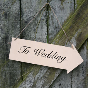 Personalised Wedding Direction Sign - room signs