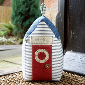 Personalised Beach Hut Doorstop - decorative accessories