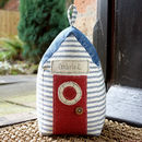 Personalised Beach Hut Doorstop