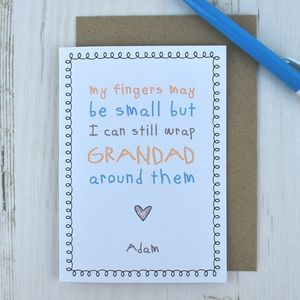 My Fingers May Be Small But… Cute Grandad Card