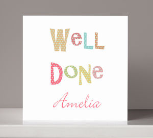 Personalised 'Well Done' Congratulations Card - new job cards