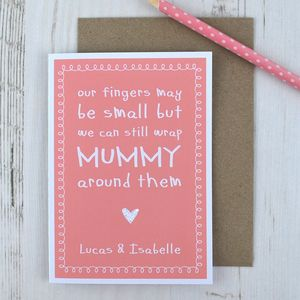 My Fingers May Be Small But… Cute Mummy Card