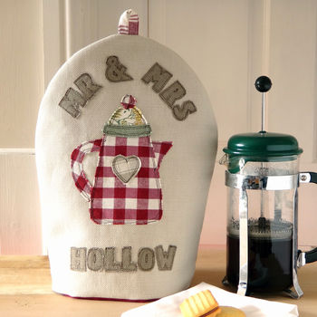 Personalised 'Mr & Mrs' Cafetiere Cosy