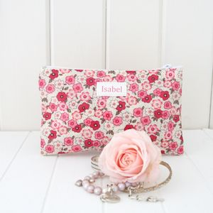 Compact Personalised Cosmetic Bag