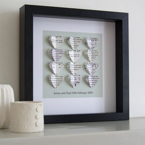 Your Song Personalised Artwork In White