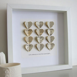 Your Special Song Artwork In Vintage Papers - personalised gifts for couples