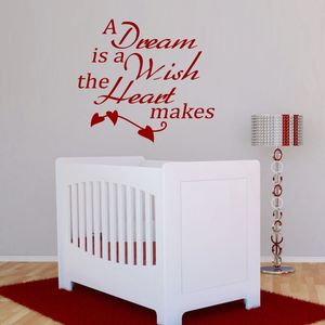 'A Dream Is A Wish' Quote Wall Sticker