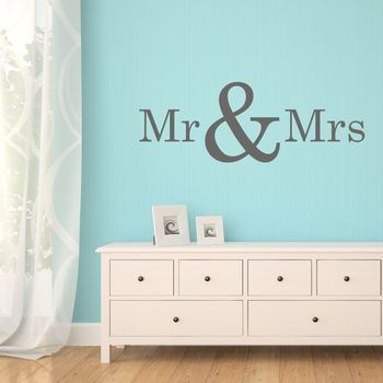 'Mr & Mrs' Wall Art Quote