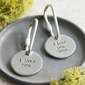 'I Love You'/'I Love You More' Keyring - keyrings