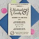Natural Floral Wooden Wedding Invitation