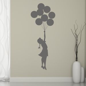 Banksy Balloon Girl Wall Sticker - children's room accessories
