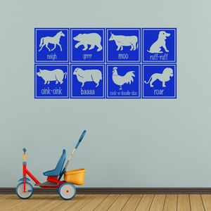 Animal Sounds Vinyl Wall Stickers