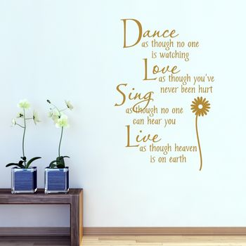 Dance Love Sing Live Wall Sticker