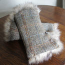 Harris Tweed Wrist Warmers