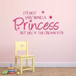 Not Easy Being A Princess Wall Sticker - prints & art sale
