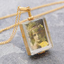 Yellow Rectangular Memory Locket