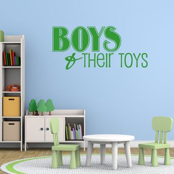 'Boys And Their Toys' Wall Sticker