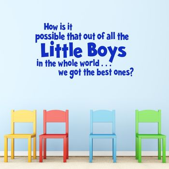 'Best Boys' Vinyl Wall Sticker