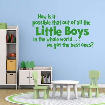 Best Boys Vinyl Wall Sticker