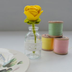 Miniature Felt Flower In A Bottle - flowers & plants